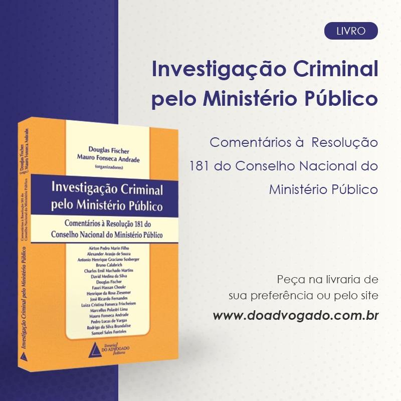 Livro traz análise da Resolução 181 do CNMP